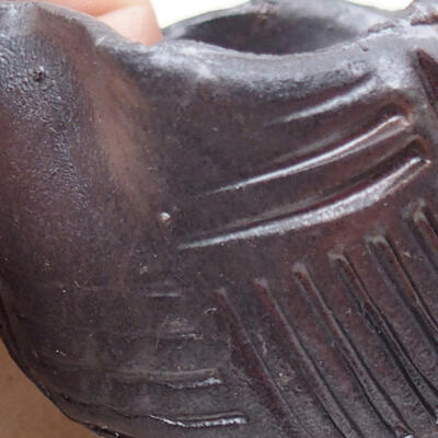 Keramikschale 7,5 x 7,5 x 5,5 cm, Metallfarbe - 2