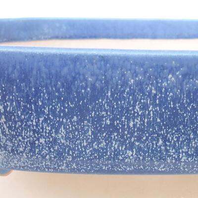 Keramische Bonsai-Schale 18 x 13,5 x 5 cm, Farbe blau - 2