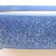 Keramische Bonsai-Schale 18 x 13,5 x 5 cm, Farbe blau - 2/3