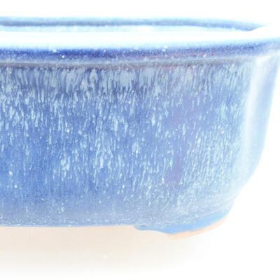 Keramische Bonsai-Schale 21 x 16,5 x 7 cm, Farbe blau - 2