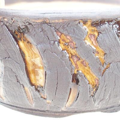Bonsaischale aus Keramik 19 x 19 x 7 cm, Farbe Rissgelb - 2