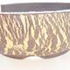 Bonsaischale aus Keramik 18 x 18 x 6 cm, Farbe grau-gelb - 2/3