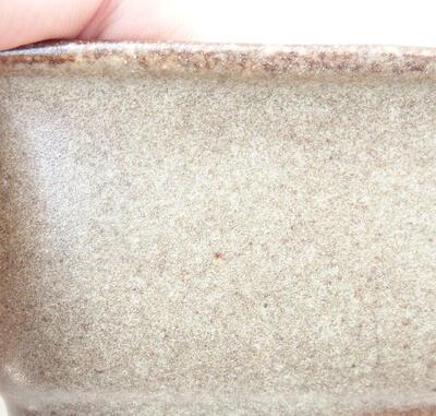 Bonsaischale aus Keramik 12 x 9 x 5,5 cm, braune Farbe - 2