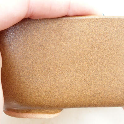 Bonsaischale aus Keramik 11,5 x 8,5 x 5 cm, braune Farbe - 2