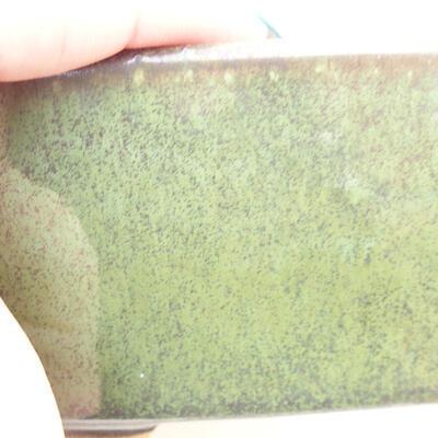 Bonsaischale aus Keramik 13 x 10 x 6 cm, Farbe grün - 2