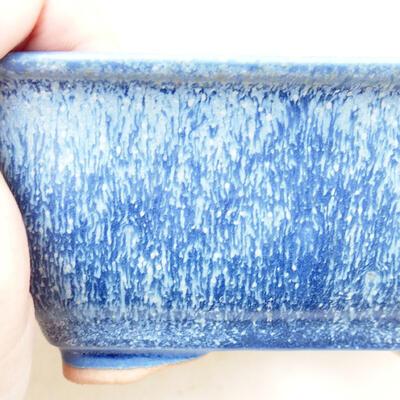 Bonsaischale aus Keramik 12,5 x 9,5 x 6 cm, Farbe blau - 2