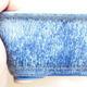 Bonsaischale aus Keramik 12,5 x 9,5 x 6 cm, Farbe blau - 2/3