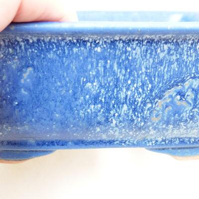 Bonsaischale aus Keramik 12 x 9 x 6 cm, Farbe blau - 2