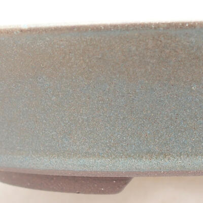 Keramische Bonsai-Schale 18 x 18 x 4 cm, Farbe grün - 2