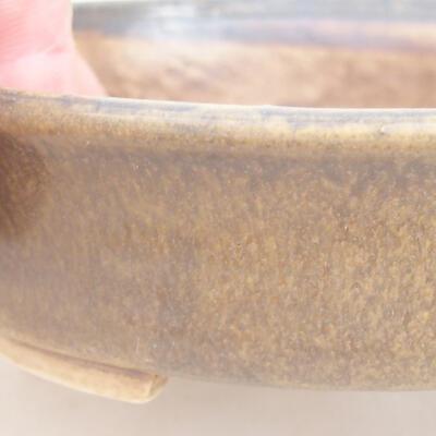 Keramische Bonsai-Schale 12 x 11 x 3 cm, braune Farbe - 2