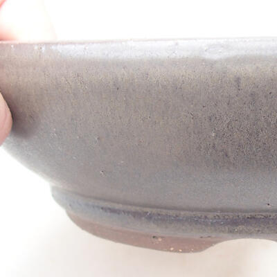 Keramische Bonsai-Schale 18,5 x 18,5 x 5 cm, braune Farbe - 2