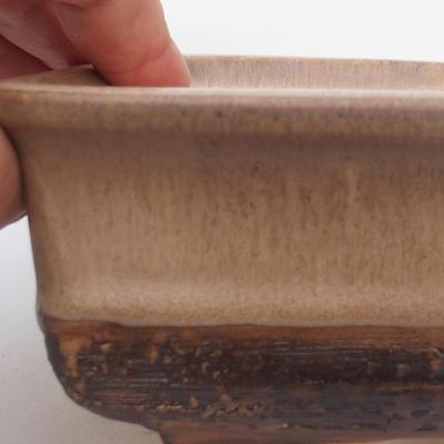 Keramik Bonsaischale 17 x 12 x 6 cm, Farbe braun - 2