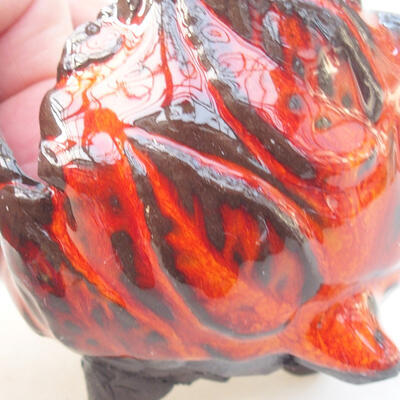 Keramikschale 7 x 7 x 7 cm, Farbe orange - 2