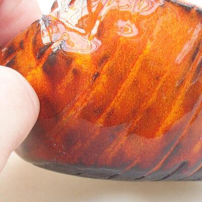 Keramikschale 7 x 7 x 5 cm, Farbe orange - 2