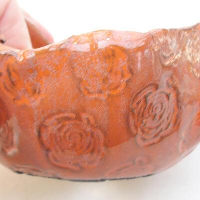 Keramikschale 7,5 x 7,5 x 5 cm, Farbe orange - 2