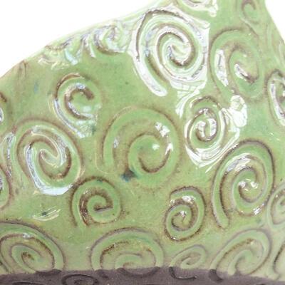 Keramikschale 7 x 7 x 5 cm, Farbe grün - 2