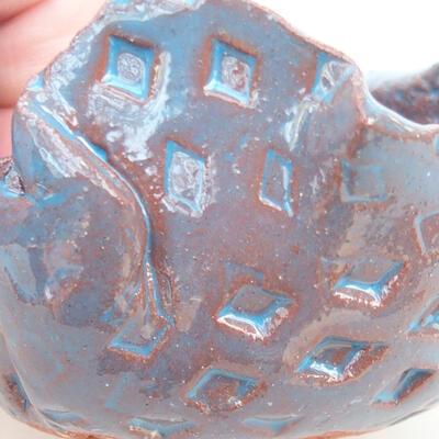 Keramikschale 7 x 6,5 x 5,5 cm, Farbe blau - 2