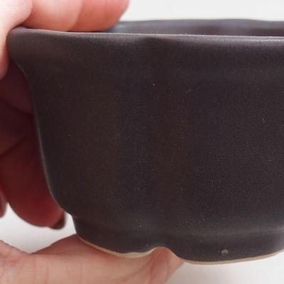 Bonsaischale + Tablett H95 - Schüssel 7 x 7 x 4,5 cm, Tablett 7 x 7 x 1 cm - 2