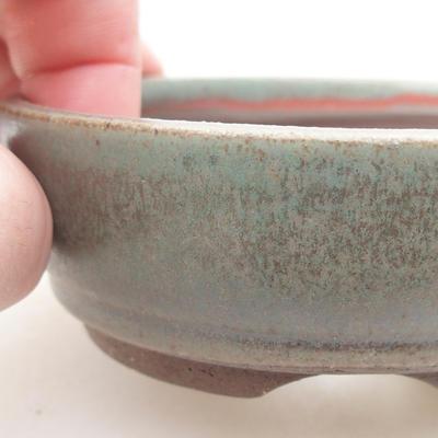 Keramische Bonsai-Schale 9 x 9 x 3 cm, Farbe grün - 2