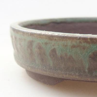 Keramische Bonsai-Schale 9 x 9 x 2 cm, Farbe grün - 2