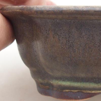 Keramik Bonsai Schüssel 15 x 12 x 4 cm, Farbe grün - 2