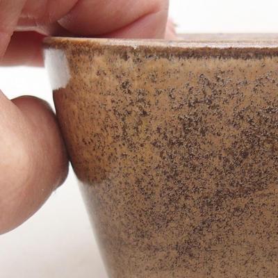 Keramische Bonsai-Schale 13 x 10 x 5,5 cm, braune Farbe - 2