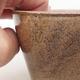 Keramische Bonsai-Schale 13 x 10 x 5,5 cm, braune Farbe - 2/4