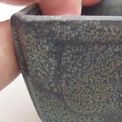 Keramische Bonsai-Schale 13 x 9 x 4,5 cm, graue Farbe - 2