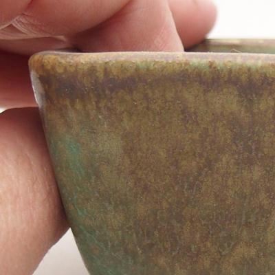 Keramik Bonsai Schüssel 10 x 7 x 4 cm, Farbe grün - 2