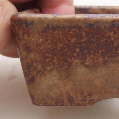 Keramische Bonsai-Schale 9 x 7 x 4 cm, Farbe braun - 2
