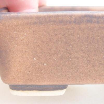 Keramische Bonsai-Schale 9,5 x 8 x 3,5 cm, braune Farbe - 2