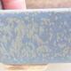 Keramische Bonsai-Schale 9,5 x 8 x 3,5 cm, Farbe blau - 2/3