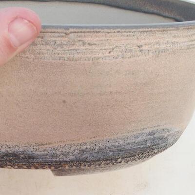 Bonsai-Schale 31 x 24 x 10 cm, grau-beige Farbe - 2