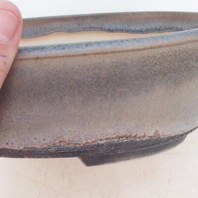 Bonsai-Schale 22 x 17 x 7 cm, Farbe grau - 2