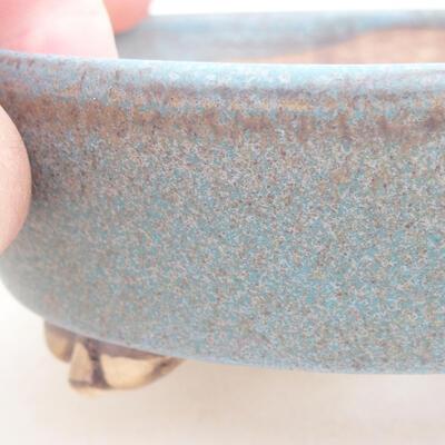 Keramische Bonsai-Schale 12 x 9,5 x 3,5 cm, Farbe blau - 2