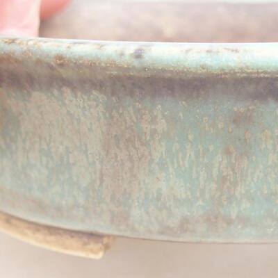 Keramische Bonsai-Schale 12 x 11 x 3 cm, Farbe grün - 2