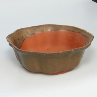 Bonsai Schüssel Tablett H06 - Schüssel 14,5 x 14,5 x 4,5, Tablett 13,5 x 13,5 x 1,5 cm - 2