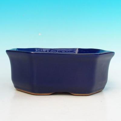 Keramik Bonsai Schüssel H 14 - 17,5 x 17,5 x 6,5 cm - 2