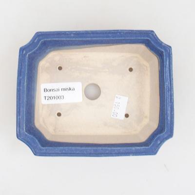 Keramische Bonsai-Schale 13 x 10,5 x 4 cm, Farbe blau - 3