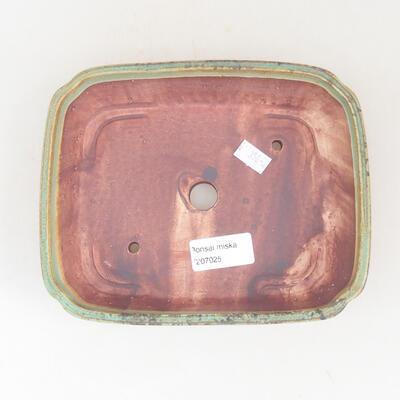 Keramische Bonsai-Schale 17,5 x 14,5 x 5 cm, Farbe grün - 3