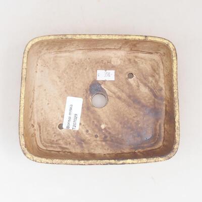 Keramische Bonsai-Schale 17 x 14 x 4,5 cm, Farbe gelb - 3