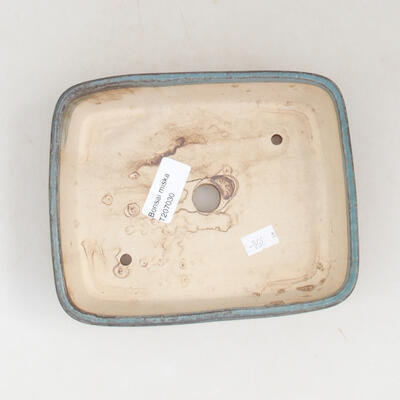 Keramische Bonsai-Schale 17 x 14 x 4,5 cm, Farbe blau - 3