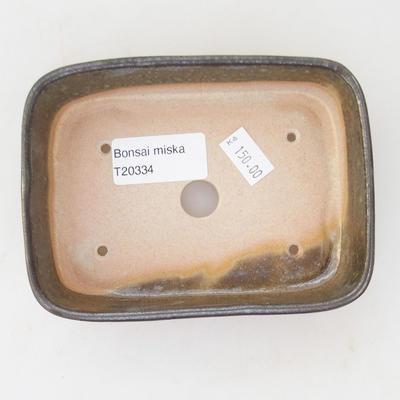 Keramische Bonsai-Schale 13 x 9,5 x 3,5 cm, graugrüne Farbe - 3