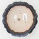 Keramische Bonsai-Schale 18 x 18 x 5 cm, braun-blaue Farbe - 3/4