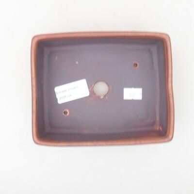 Keramische Bonsai-Schale 14,5 x 11,5 x 4,5 cm, braune Farbe - 3