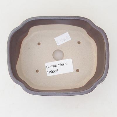 Keramische Bonsai-Schale 12,5 x 10 x 4,5 cm, Farbe braun - 3
