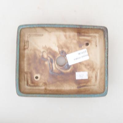 Keramische Bonsai-Schale 14,5 x 11,5 x 4,5 cm, Farbe grün - 3