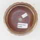 Keramische Bonsai-Schale 11,5 x 11,5 x 4,5 cm, braun-beige Farbe - 3/4