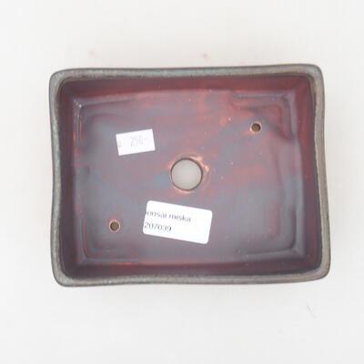 Keramische Bonsai-Schale 14,5 x 11,5 x 4,5 cm, graue Farbe - 3