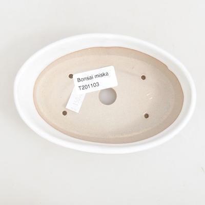 Keramische Bonsai-Schale 14,5 x 9 x 3,5 cm, weiße Farbe - 3